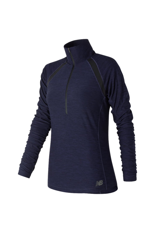 Women's Anticipate Half Zip Top - Pigment Heather