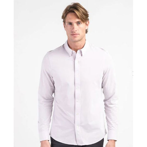 Mens' Commuter Athletic Fit Dress Shirt - Red / White Dot