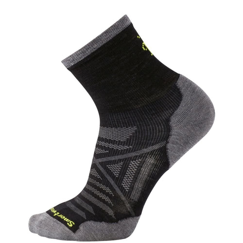 Men's PhD Run Cold Weather Mid Crew Socks - Black