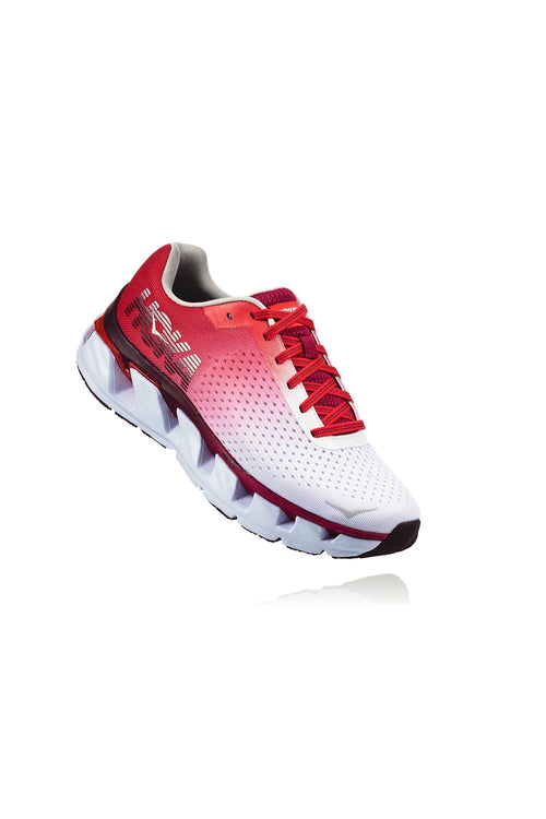 Women's Elevon Running Shoe - White/Cherries Jubilee