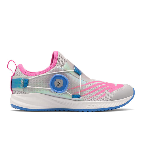 Youth Fuelcore Reveal Running Shoe - Light Aluminum/Fusion/Team Carolina Blue