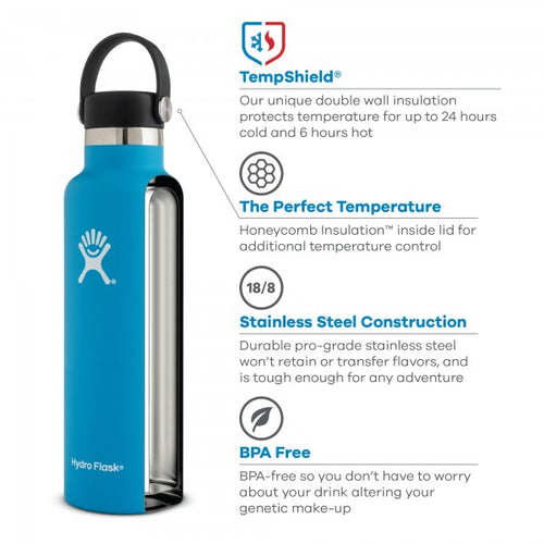18 oz Standard Mouth Insulated Waterbottle - Fog