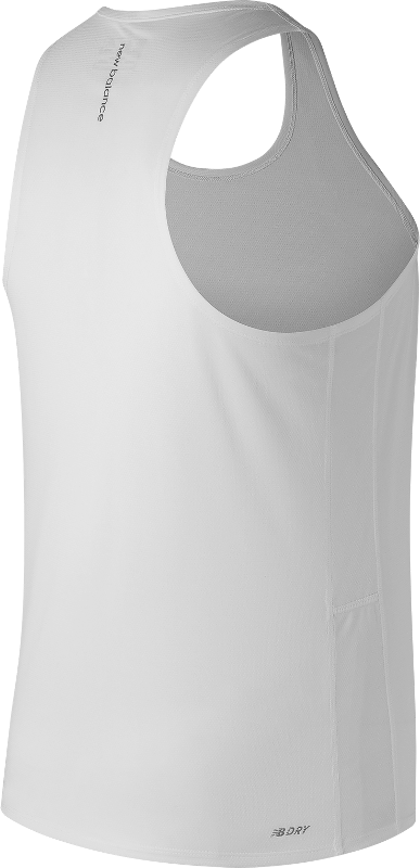 Men's Accelerate Singlet- White