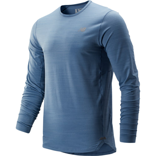 Men's Seasonless Long Sleeve Top - Chambray Heather