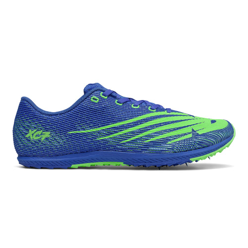 Men's XC Seven v3 Racing Shoe - Cobalt Blue with Lime Green