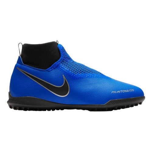 Junior Phantom Vision Academy Dynamic Fit Turf Cleat - Racer Blue/Metallic Silver/Black/Volt