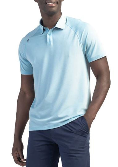 Men's Delta Pique Polo - Cool Blue