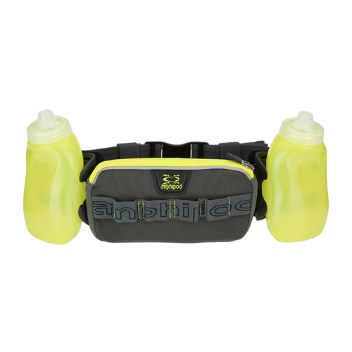 RunLite Xtech 2 Plus Running Belt - Charcoal and Bright Green