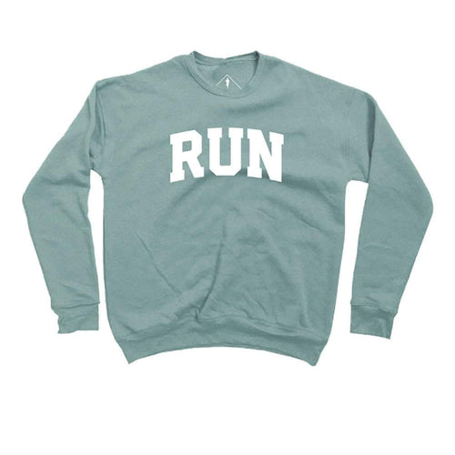 Unisex RUN Sweatshirt - Dusty Blue