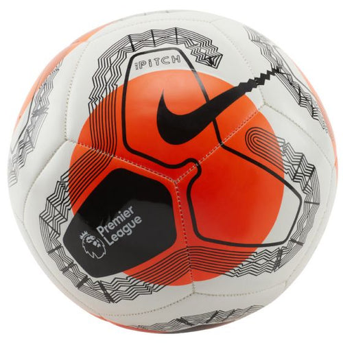 Premier League Pitch Soccer Ball - White/Hyper Crimson/Black