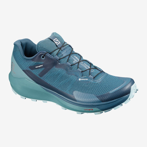 Women's Sense Ride 3 GTX Trail Running Shoe - Indian Teal/Smoke Blue/Angel Falls
