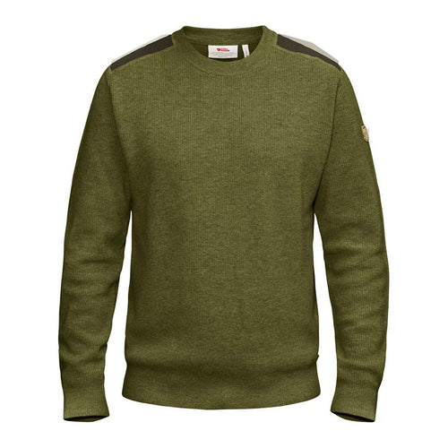 Men's Sormland Crew Sweater - Dark Olive