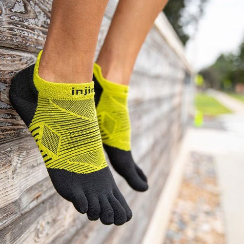 Unisex Run Lightweight No Show Coolmax Socks - Noir