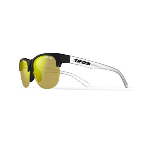 Tifosi Swank SL Sunglasses - Satin Black / Clear Smoke Yellow