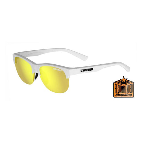 Tifosi Swank SL Sunglasses - Satin Frost / Smoke Yellow
