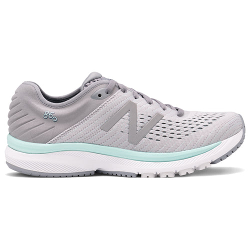 Women's 860 v10 Running Shoe - Steel with Light Aluminum & Light Reef