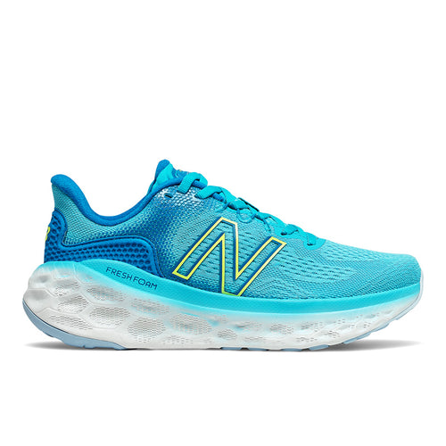 Women's More v3 Running Shoe - Virtual Sky/Bleached Lime Glo