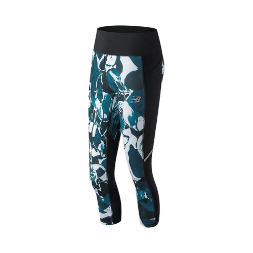 Women's Printed Impact Capri - North Sea