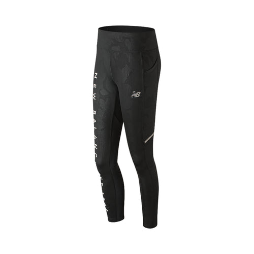 Women's Premium Printed Impact Tight - Black