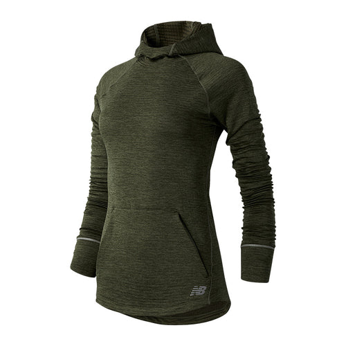 Women's NB Heat Grid Hoodie - Nettle Green