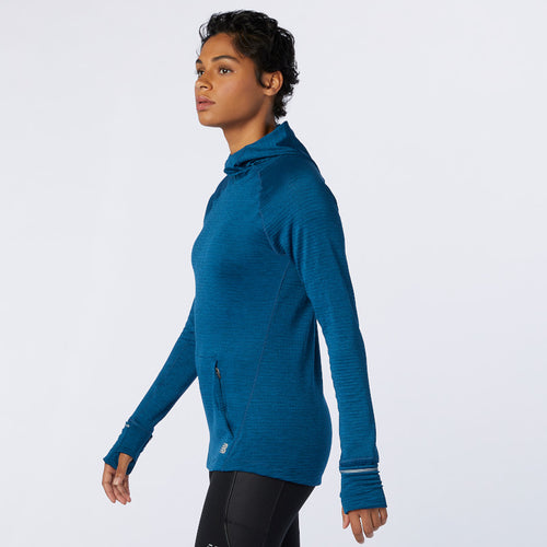 Women's Heat Grid Hoodie - Rouge Wave Heather