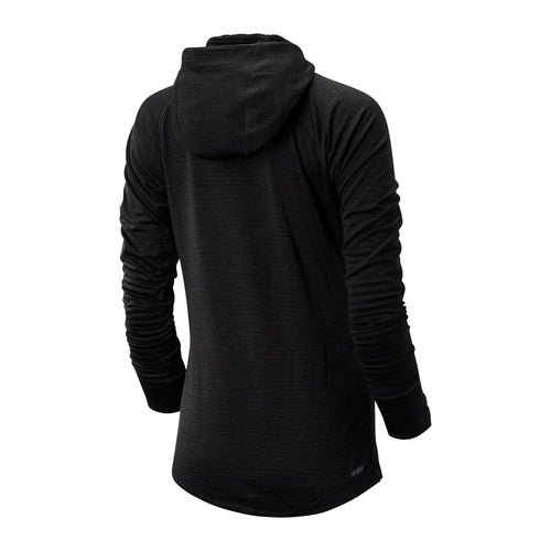 Women's Impact Run Grid Hoodie - Black