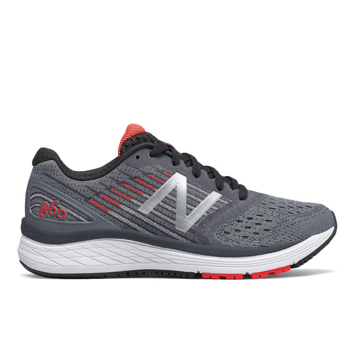 Kids' 860 v9 Running Shoe - Gunmetal/Energy Red