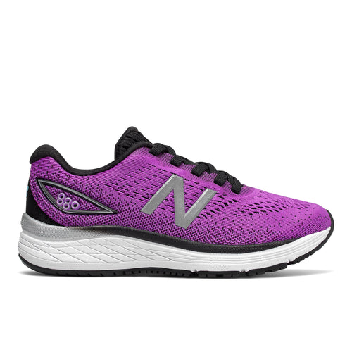 Girls' 880 v9 Running Shoe - Voltage Violet/Black
