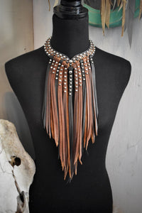 Genuine Handcrafted Leather Necklace (Mix)