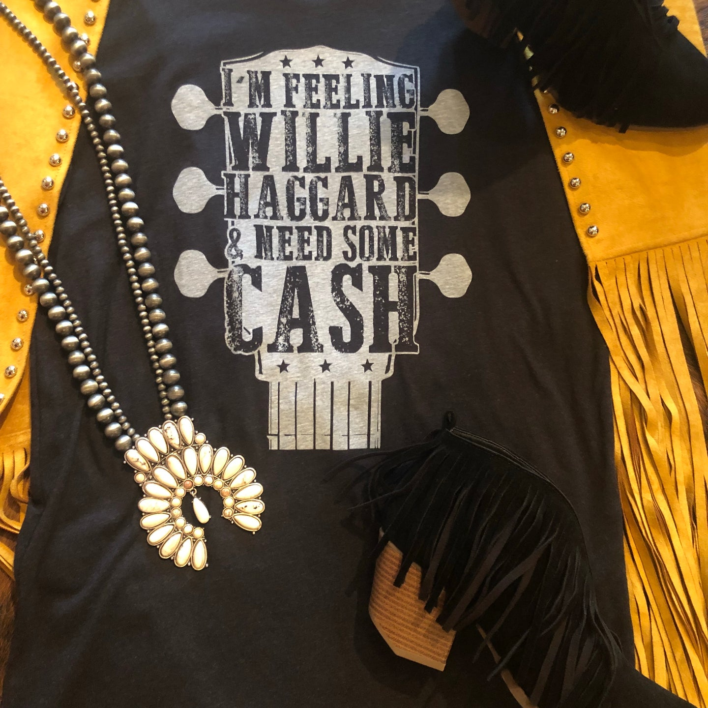 """Willie, Haggard, and Cash"" Tee"