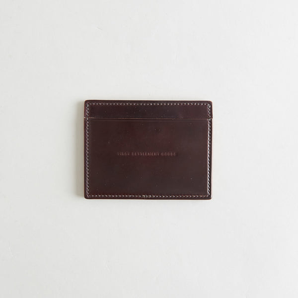 Three Pocket Wallet Color 8 Shell Cordovan
