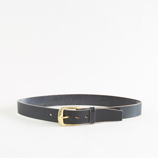 Standard Belt Black Bridle Brass