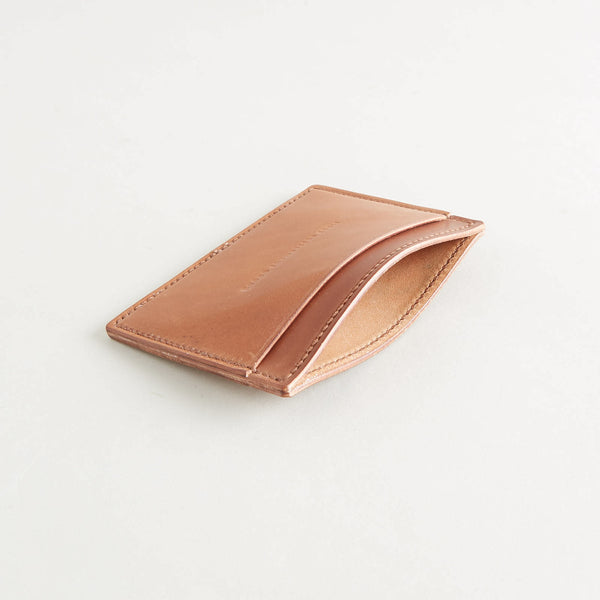 Three Pocket Wallet Natural Shell Cordovan