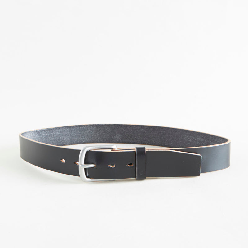 Standard Belt Black Bridle Steel