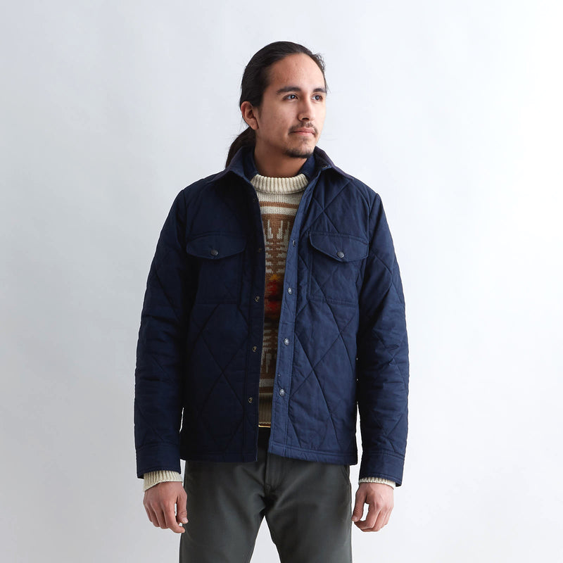 Hyder Quilted Jac-Shirt Faded Navy
