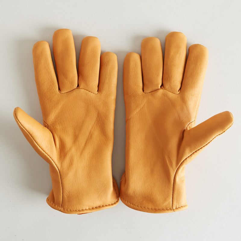 Lined Deerskin Gloves Saddle