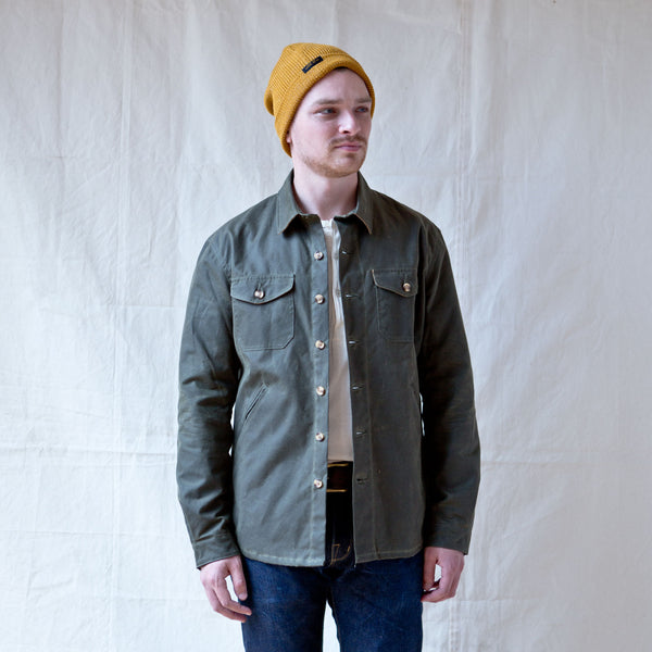 Crissman Overshirt Waxed Canvas Loden Green