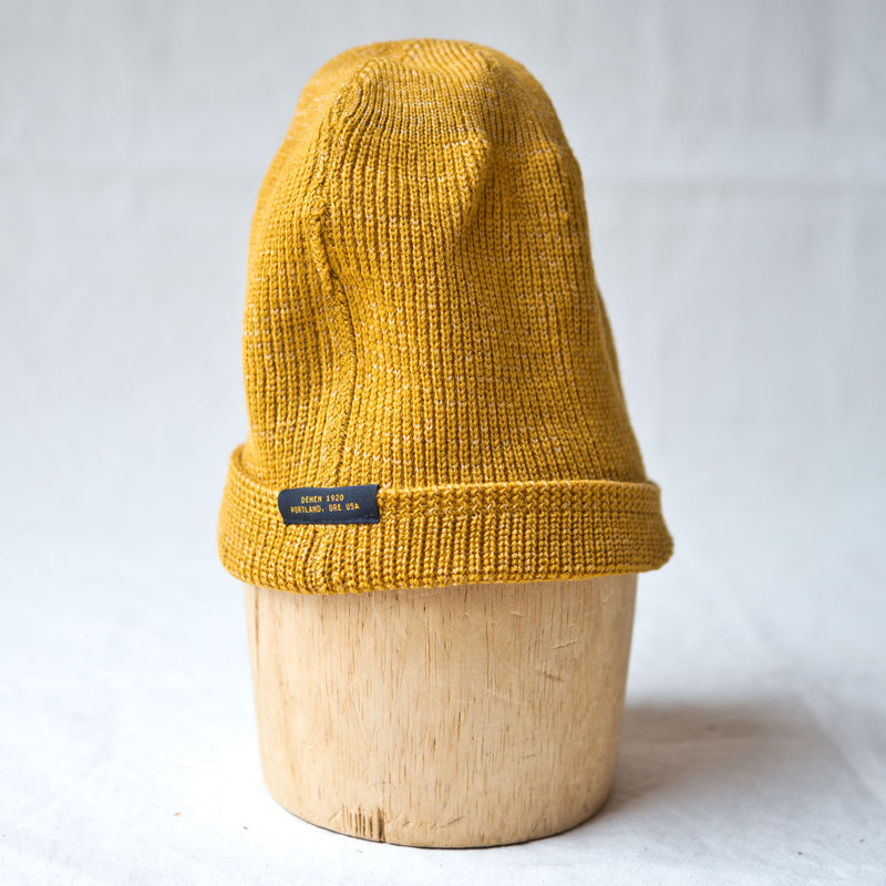 Wool Knit Watch Cap Old Gold