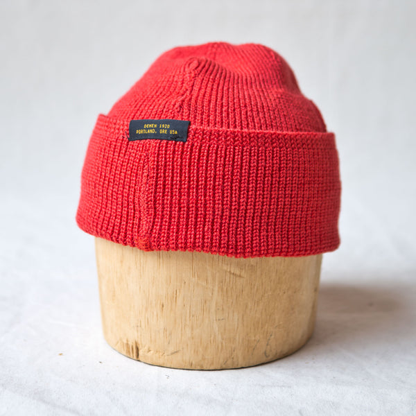 Wool Knit Watch Cap Blood Orange