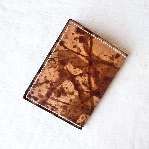 Four Pocket Wallet Drip Dyed Calfskin