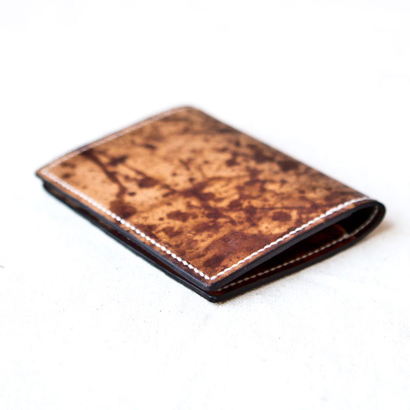 Two Pocket Wallet Drip Dyed Calfskin