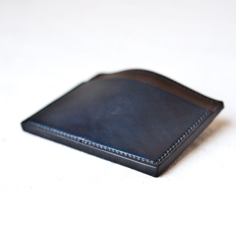 Three Pocket Wallet Indigo and Marble #8 Cordovan