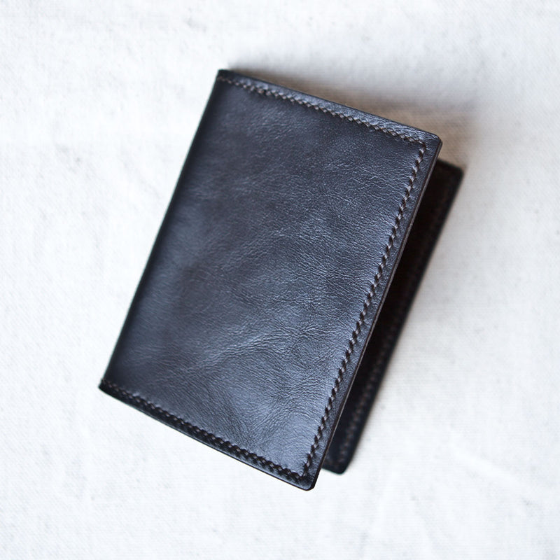 Two Pocket Black Tumbled Horsehide CXL