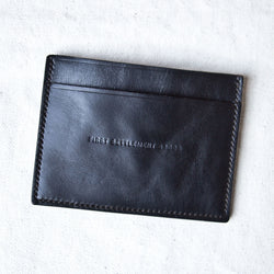 Three Pocket Black Tumbled Horsehide CXL