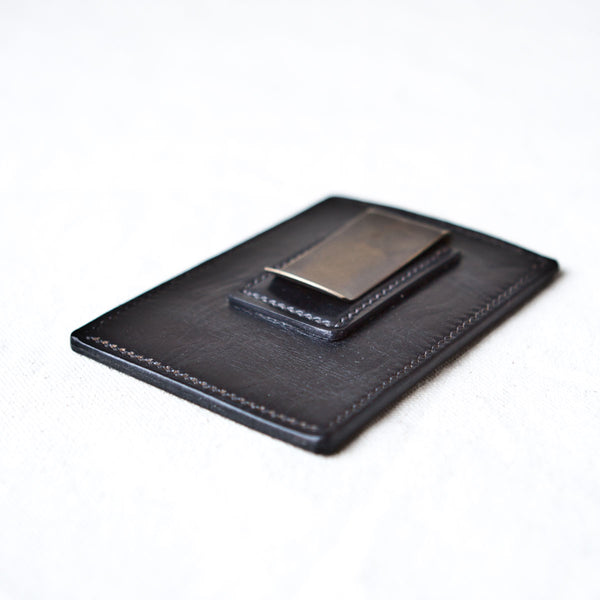 Money Clip Tumbled Black Chromexcel