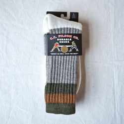 1970s Logger Thermal Socks Green