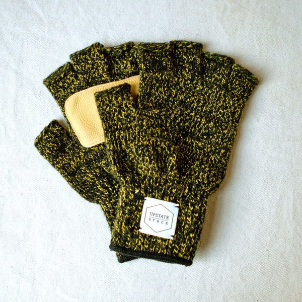 Ragg Wool Fingerless Glove Canary