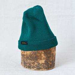 Wool Knit Watch Cap Emerald