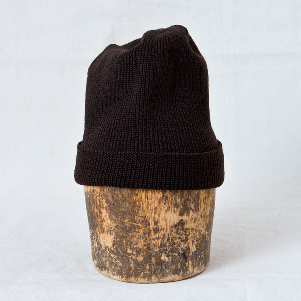 Wool Knit Watch Cap Brown