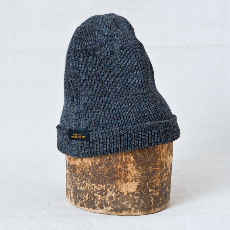 Wool Knit Watch Cap Charcoal